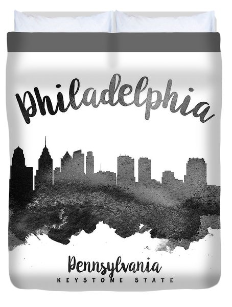 Philadelphia Pennsylvania Skyline 18 Duvet Cover by Aged Pixel