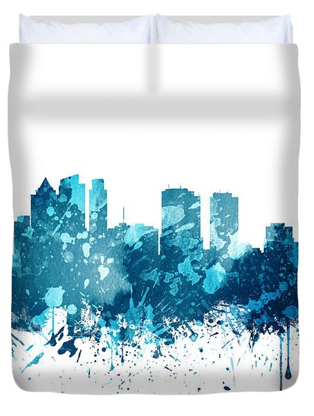 Philadelphia Pennsylvania Skyline 19 Duvet Cover by Aged Pixel