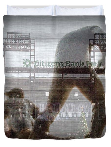 Philadelphia Phillies - Citizens Bank Park Duvet Cover by Bill Cannon