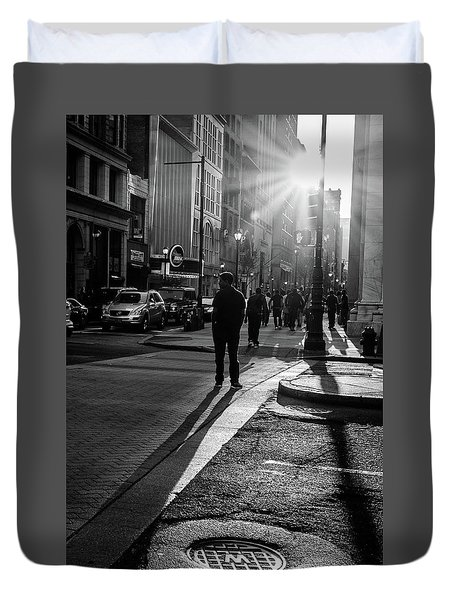 Duvet Cover featuring the photograph Philadelphia Street Photography - 0943 by David Sutton