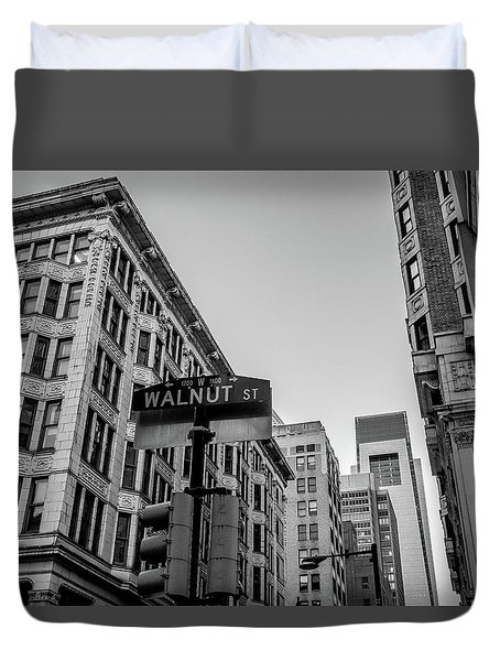 Duvet Cover featuring the photograph Philadelphia Urban Landscape - 0980 by David Sutton
