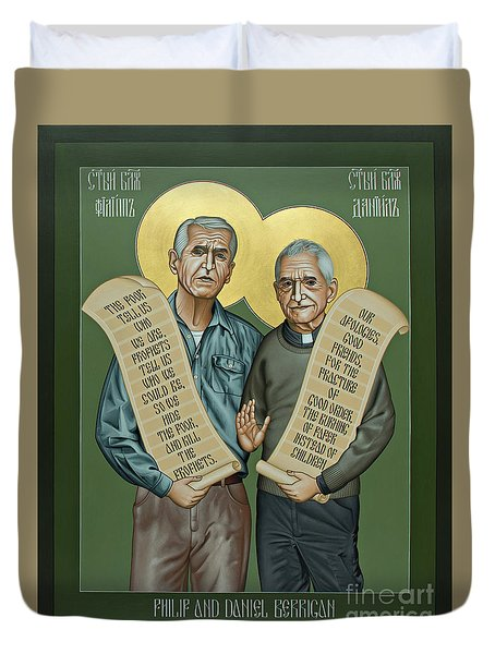 Philip And Daniel Berrigan Duvet Cover