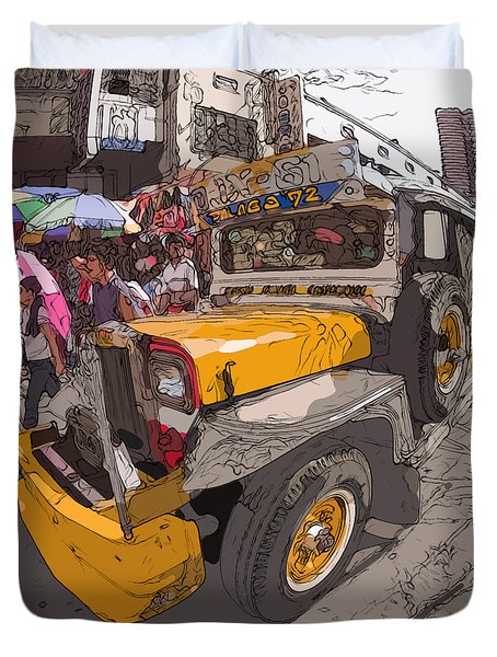 Philippines 1261 Jeepney Duvet Cover