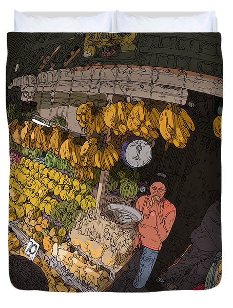 Philippines 3575 Saging Sales Lady Duvet Cover
