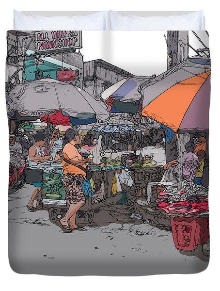 Philippines 708 Market Duvet Cover