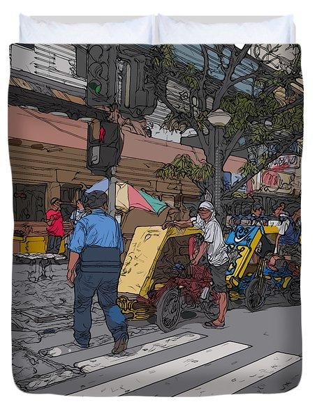 Philippines 906 Crosswalk Duvet Cover