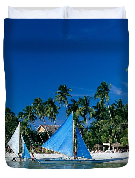 Philippines, Boracay Isla Duvet Cover by Gloria & Richard Maschmeyer - Printscapes