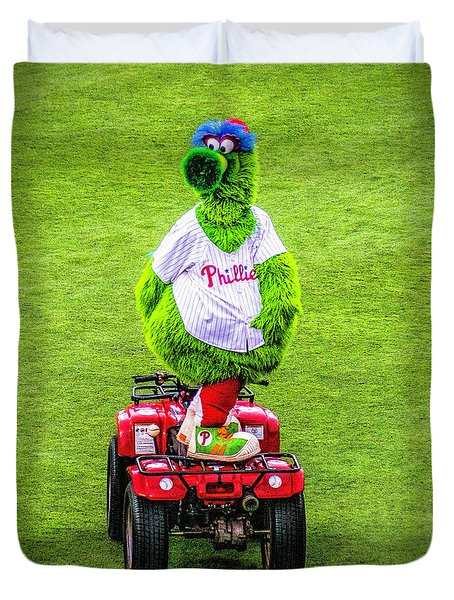 Phillie Phanatic Scooter Duvet Cover