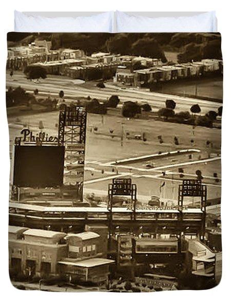 Phillies Stadium - Citizens Bank Park Duvet Cover by Bill Cannon