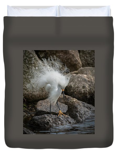 Duvet Cover featuring the photograph Phills Diller by Allen Biedrzycki