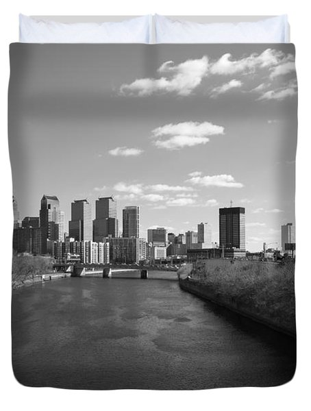 Philly B/w Duvet Cover