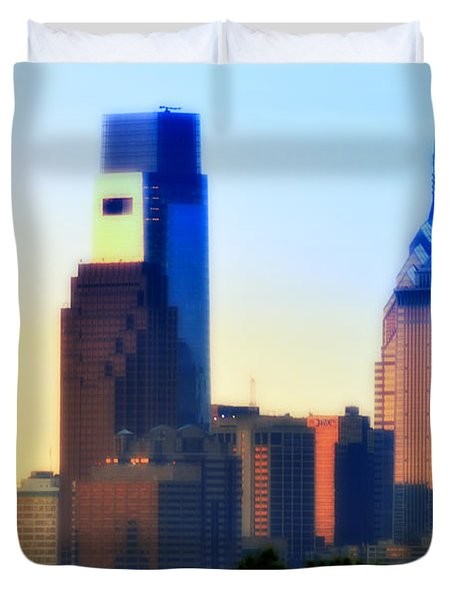 Philly Morning Duvet Cover by Bill Cannon