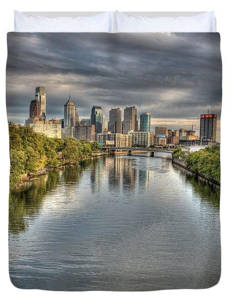 Philly River Duvet Cover