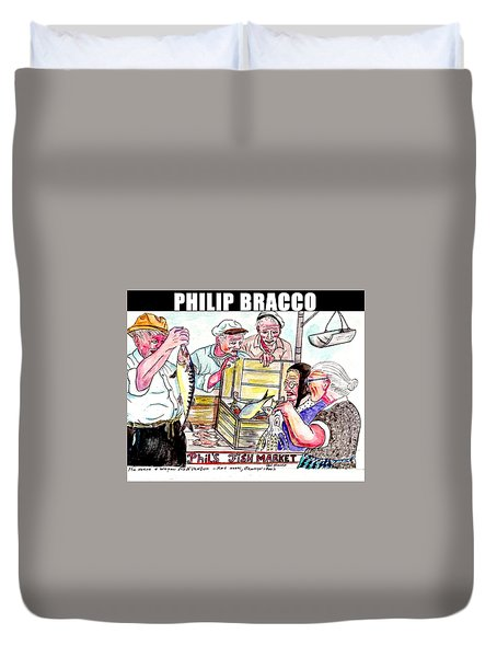 Phil's Fish Market Duvet Cover