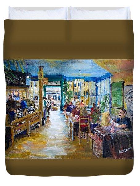 Philz Coffee San Francisco Duvet Cover by Jack Skinner
