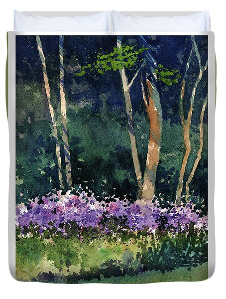 Phlox Meadow, Harrington State Park Duvet Cover
