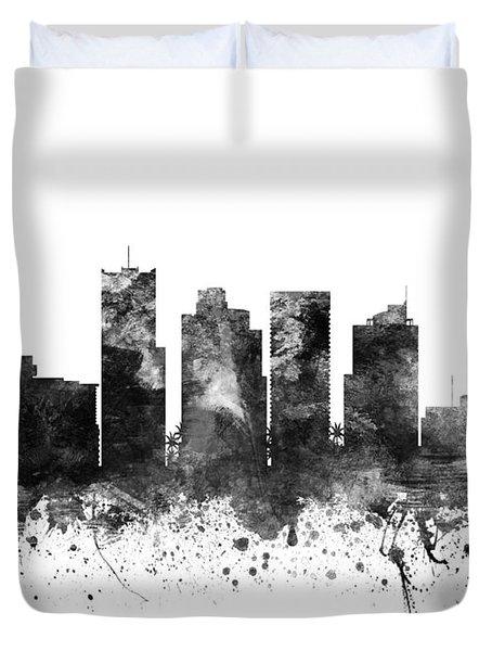 Phoenix Arizona Cityscape 02bw Duvet Cover