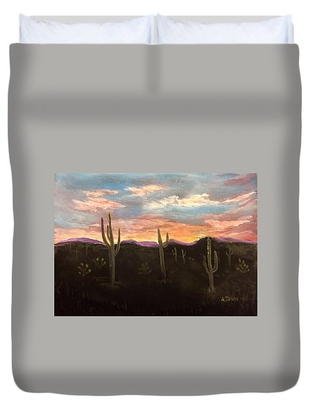 Phoenix Az Sunset Duvet Cover