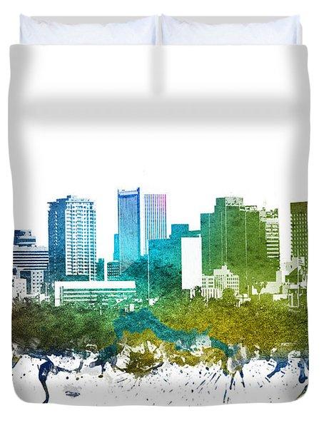 Phoenix Cityscape 01 Duvet Cover