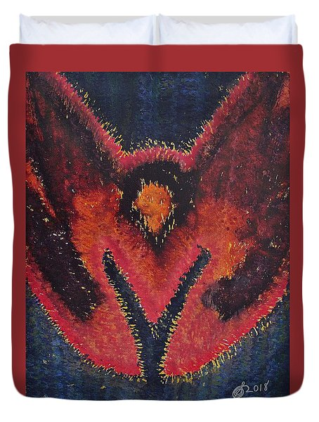 Phoenix Rising Original Painting Duvet Cover