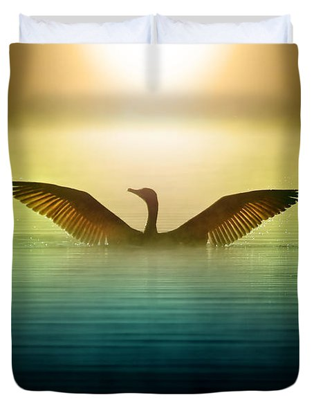 Phoenix Rising Duvet Cover by Rob Blair