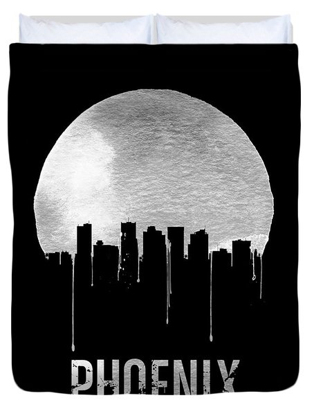 Phoenix Skyline Black Duvet Cover by Naxart Studio