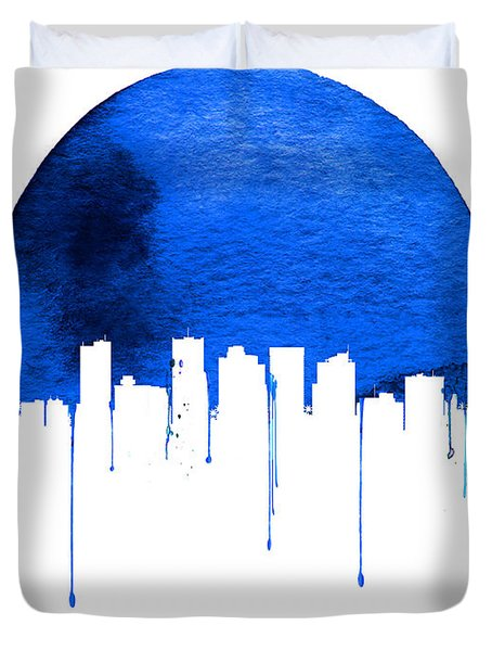 Phoenix Skyline Blue Duvet Cover