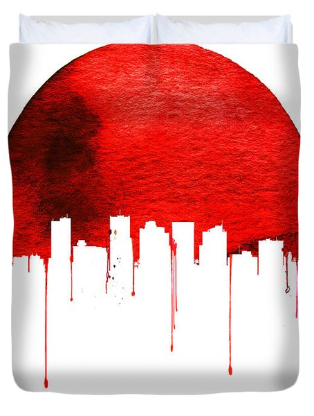 Phoenix Skyline Red Duvet Cover