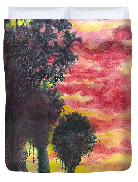 Phoenix Sunset Duvet Cover by Eric Samuelson