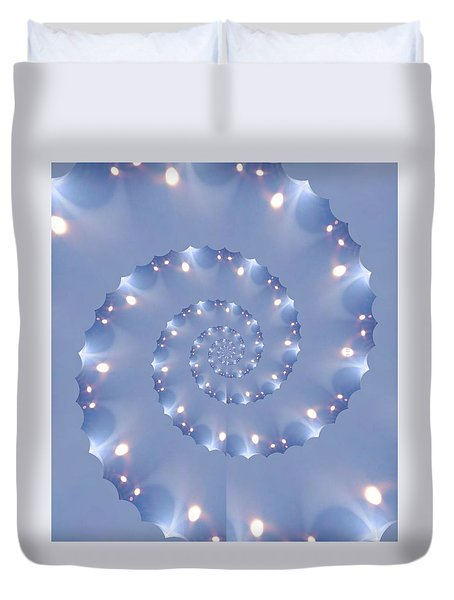 Duvet Cover featuring the photograph Phone Case Lites by Debra     Vatalaro