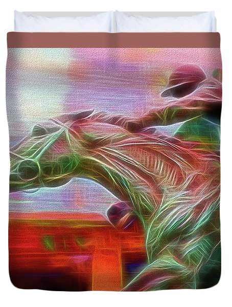 Photo Finish Duvet Cover