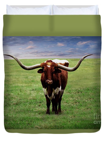 Photo Texas Longhorn A010816 Duvet Cover