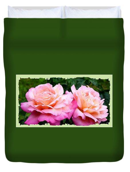 Photogenic Peace Roses Duvet Cover by Will Borden