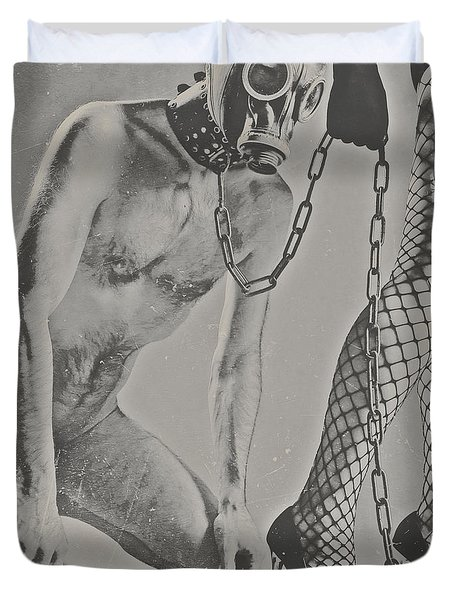 Photograph Bdsm Style In Black And White #0547d Duvet Cover