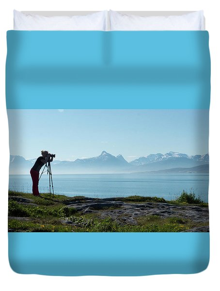 Photograph In Norway Duvet Cover