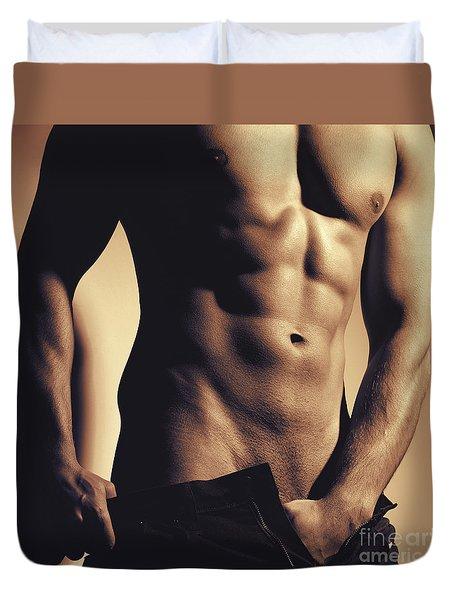 Photograph Of A Sexy Man #9981g Duvet Cover