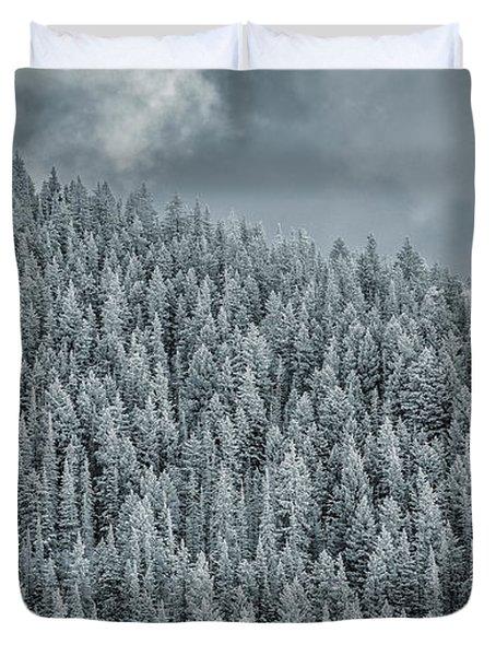 Winter Pines Duvet Cover