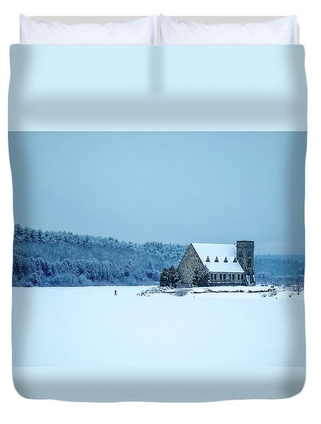 Photographer On Thin Ice Duvet Cover