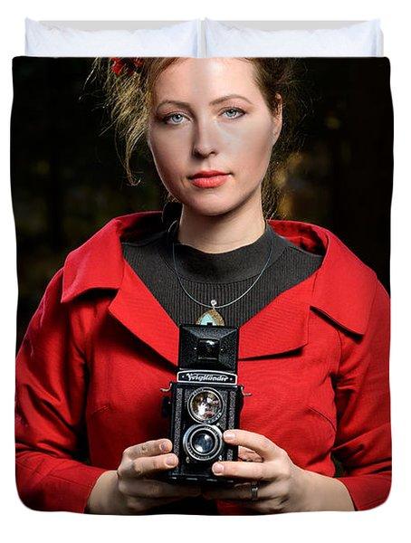 Photographer Duvet Cover
