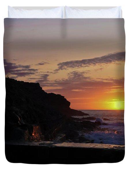 Photographer's Sunset Duvet Cover