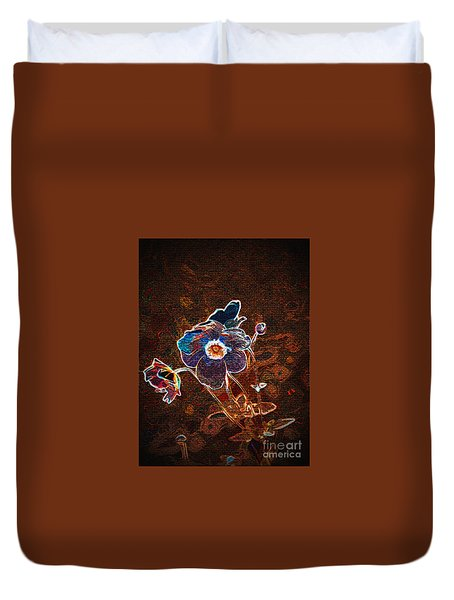 Photographic Changed Flowers 1 Duvet Cover