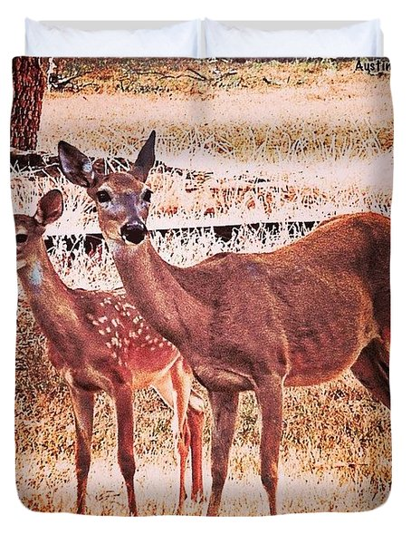 Photoshopping My Two Favorite #deer Duvet Cover