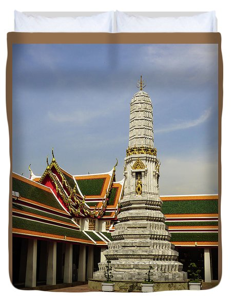 Phra Prang Tower At Wat Pho Temple Duvet Cover
