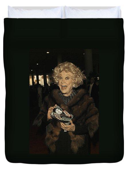 Phyllis Diller Duvet Cover by Nina Prommer