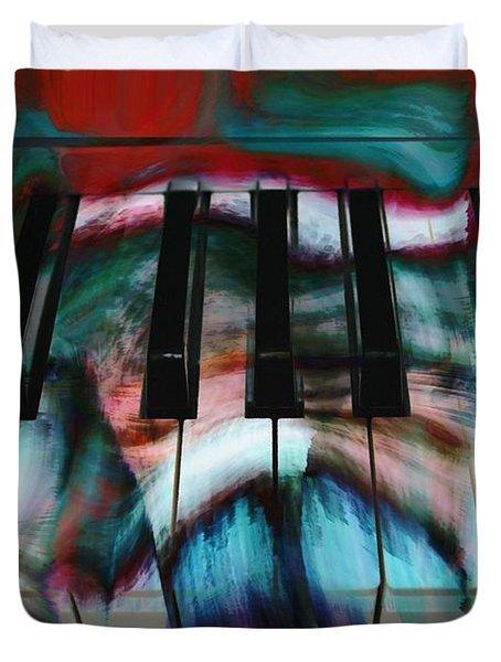 Piano Colors Duvet Cover by Linda Sannuti
