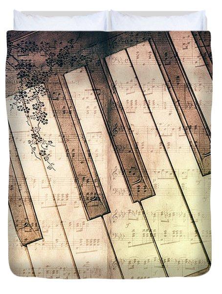 Piano Days Duvet Cover by Jutta Maria Pusl