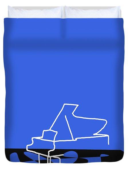 Piano In Blue Duvet Cover by David Bridburg