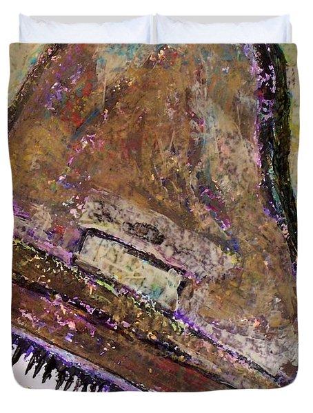 Piano In Bronze Duvet Cover