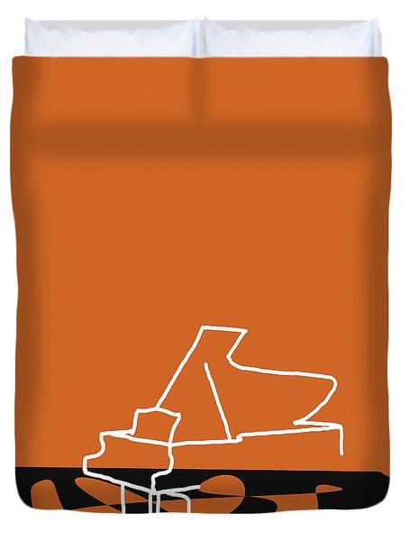 Piano In Orange Duvet Cover by David Bridburg