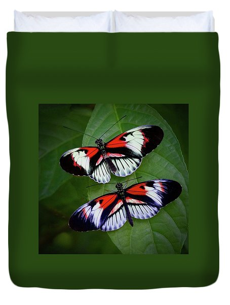 Piano Key Butterfly's Duvet Cover